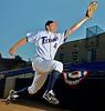 06 September 2008:  Cal State Fullerton Shortstop Joe Scott in Fullerton, CA.