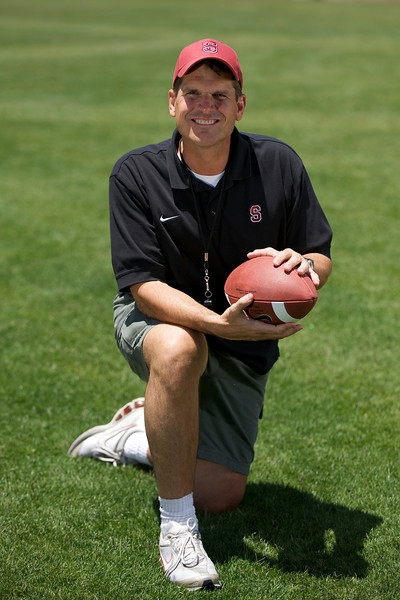 18 June 2008: Coach Harbaugh (solo) at Stanford Stadium in Stanford, CA.