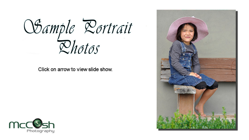 Slide show preview from portrait sittings