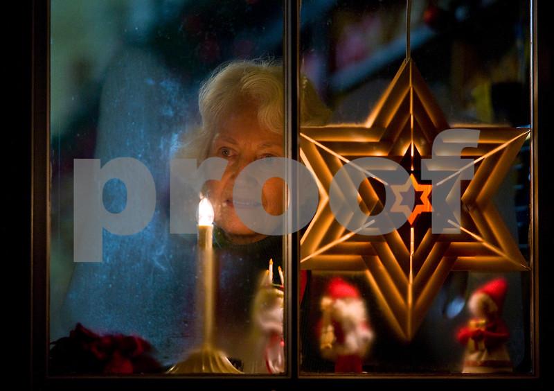 """Christmas Window/Bishop Hill, IL"""