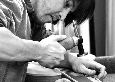 Apprentice guitar maker, Vancouver, B.C.