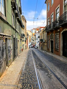 Our street - typical Portugal = narrow and scenic