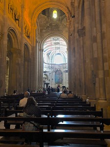 Inside - a typical church in Lisbon