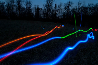 Composite of 6 frames... night frisbee with the dog...