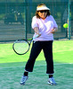Chiyo on the courts, forehand return