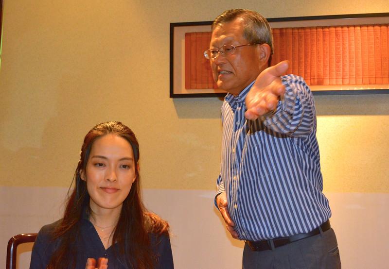 Tetsuo and daughter, Yoshie