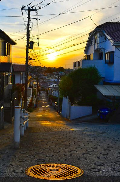 Neighborhood scene, Yokohama
