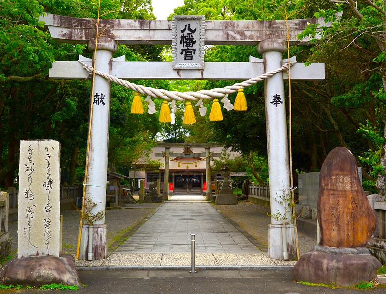 Torii gate, entrance to Shinto shrine, Kure town