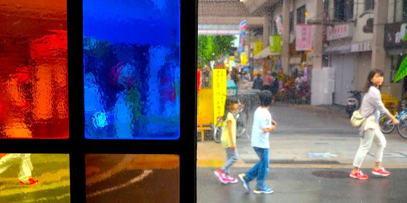 Scenes, through the window