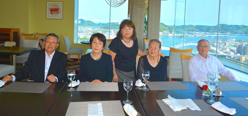 Family dinner, honoring Fumio