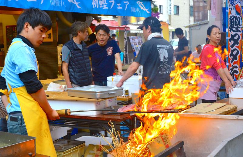 Street eats, shopping mall, Obiyamachi