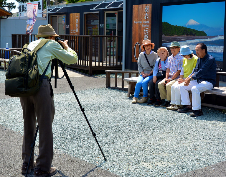 Group portrait, Mt. Fuji backdrop