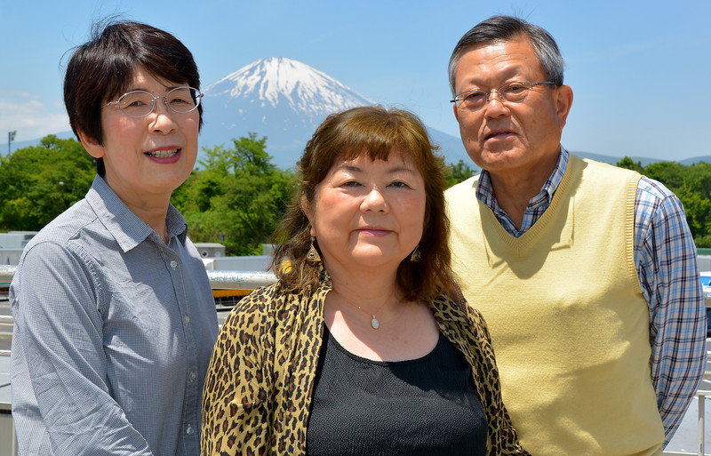 Family, with Mt. Fuji
