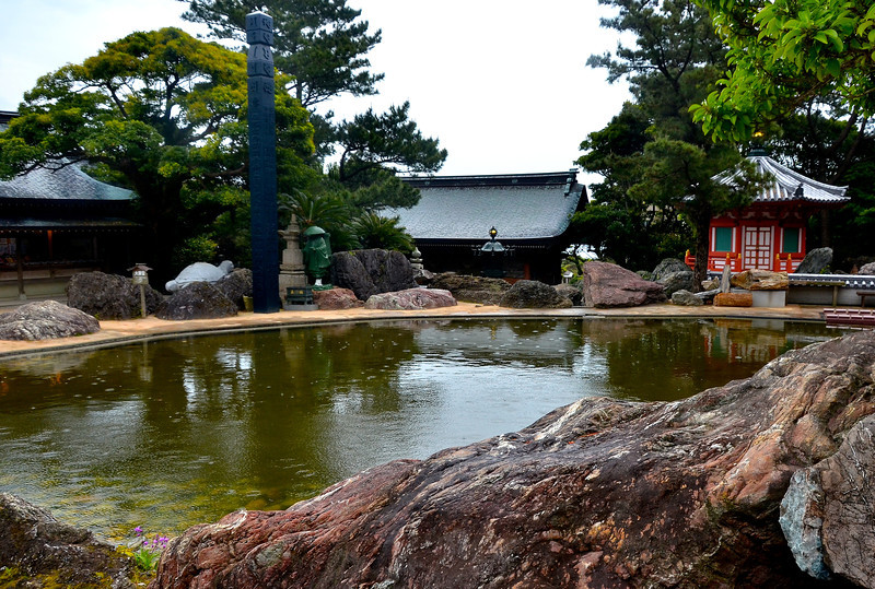 Buddhist temple, southern coast of Shikoku.