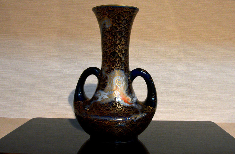 Vase in ceramic gallery frequented by the Emperor/Empress of Japan, I'm told.