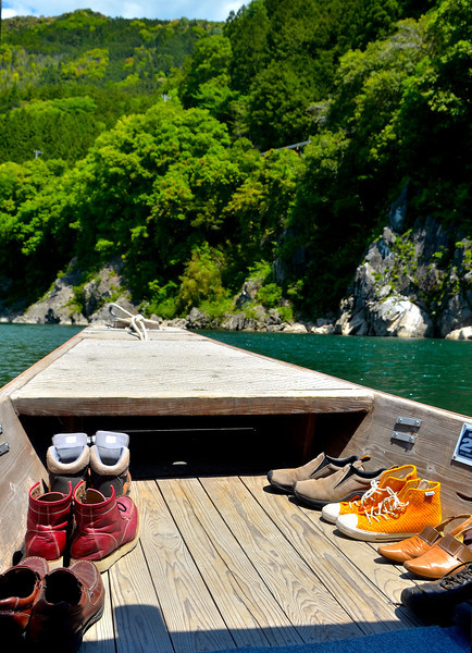 Even on small river boats, shoes off is often the custom.