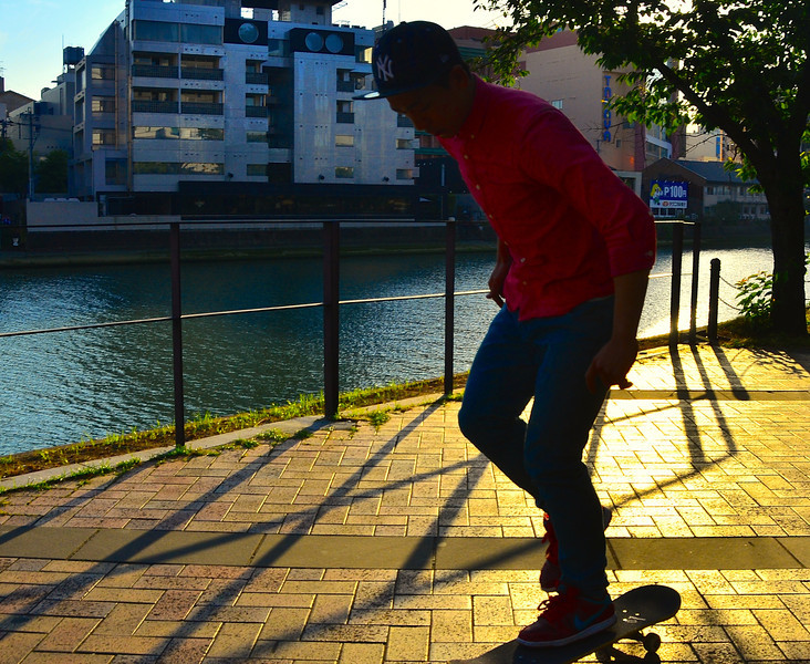 Promenade, skate board venue, Canal City