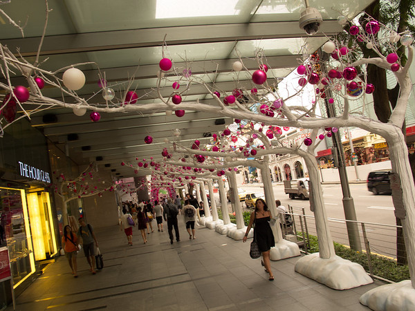 Orchard Road, Singapore, during the run up to the 'Christmas/Diwali' festival