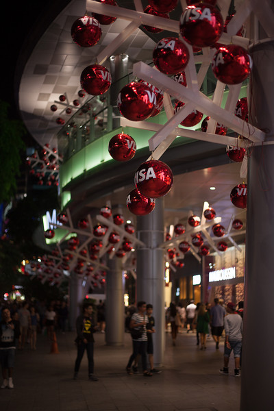 Visa sponsored Christmas - Orchard Road, Singapore