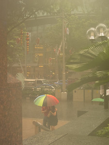 Singapore in the rain, Orchard Rd