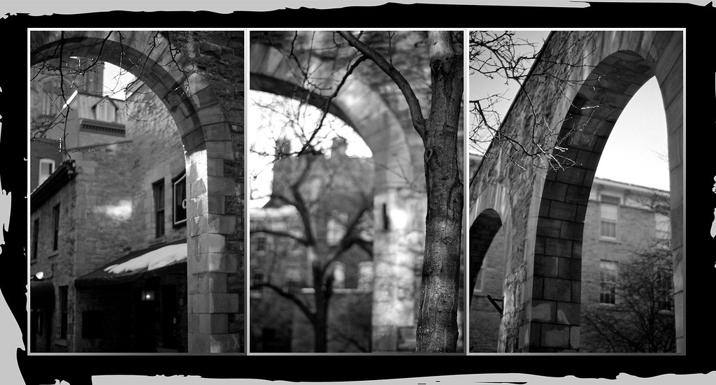 Trees and arcs; arbres et arches