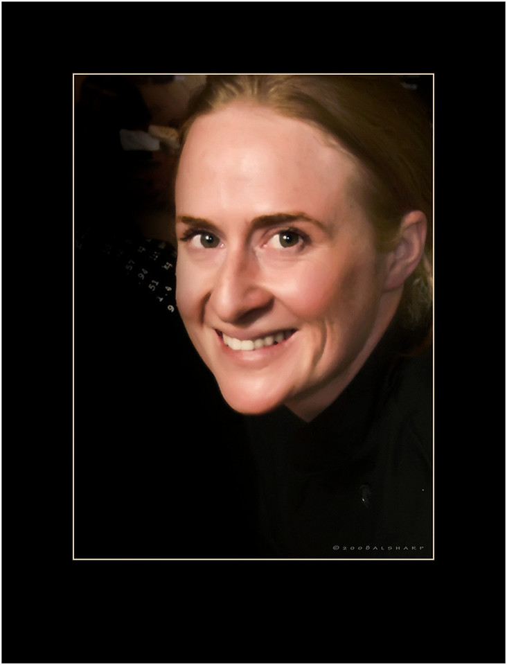 Another portrait today.   Vicki Connacher, Master Chef, wizard of all things about restaurants.  She plies her magic in Steamboat Springs, CO and her smile lights up every room she enters.  Yes, Horatio, Vicki is every bit a redhead.  Not a person to cross especially in the kitchen.