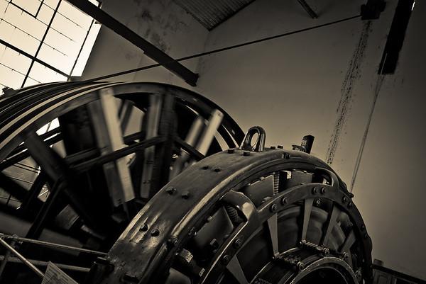 Engine of the elevator