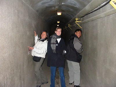 David, Darcy, and Nicole in the tunnels of Case Loma - Dec 2002