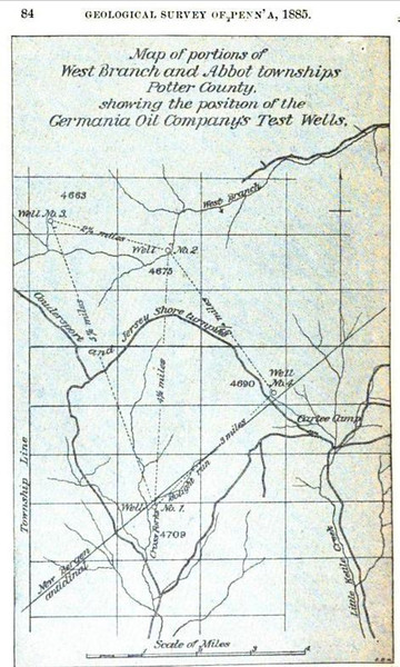 """Annual Report of the Geological Survey of Pennsylvania<br />  By Geological Survey of Pennsylvania, Pennsylvania. Geological Survey, Board of Commissioners, 1886, <a href=""""http://books.google.com/books?id=fN8QAAAAIAAJ&dq=Pennsylvania%2C%20%2C%20coudersport%2Cdrilled&pg=PA83#v=onepage&q&f=false"""">http://books.google.com/books?id=fN8QAAAAIAAJ&dq=Pennsylvania%2C%20%2C%20coudersport%2Cdrilled&pg=PA83#v=onepage&q&f=false</a>"""
