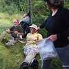 Break at Lake Diana.  Heidi shares organic beef jerky with Dave and Paul.