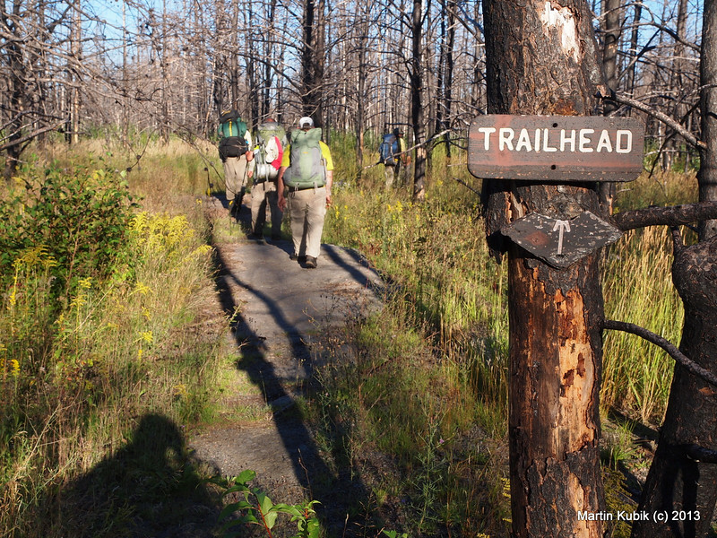 At last, in several hundred yards, our trek will be complete.  We counted 1,179 treefalls, travelled 11 hours a day, 31 miles, much of it at .7 miles per hour.  It was the hardest trip in our lives for half of the group (the other half did not care anymore, or did not have any feelings after the trip).