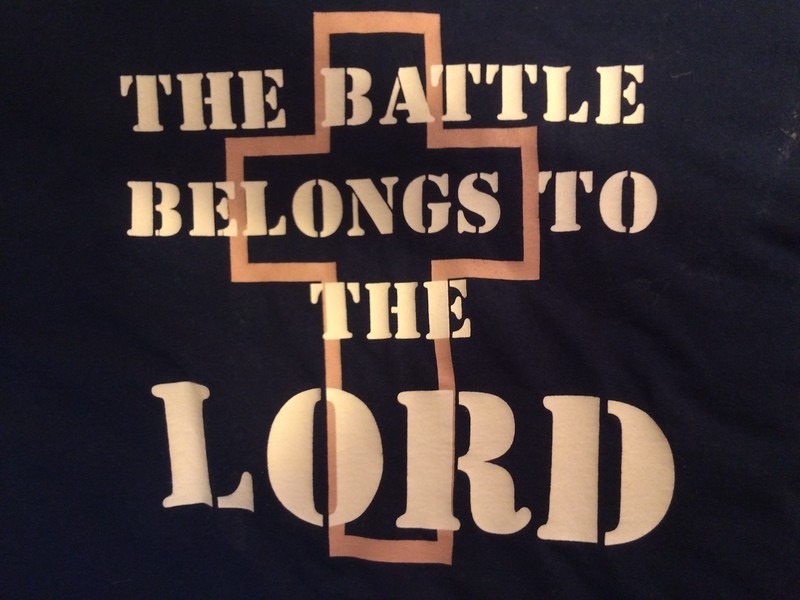 "for the battle is not yours, but God's.-2 Chronicles 20:15 <br /> <br /> <a href=""https://www.biblegateway.com/passage/?search=2%20Chronicles"">https://www.biblegateway.com/passage/?search=2%20Chronicles</a>+20&version=KJV<br /> <br /> <a href=""https://www.openbible.info/topics/the_battle_is_the_lords"">https://www.openbible.info/topics/the_battle_is_the_lords</a>"