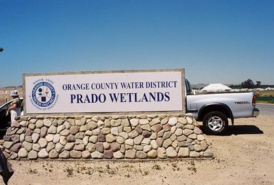 4/24/04 Prado Wetlands Tour with Orange County Water District staff biologist
