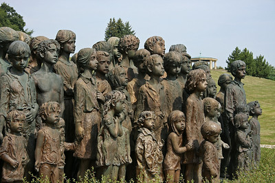 A closer view of this moving tribute/memorial to the children of Lidice, conceived and begun by sculptor Marie Uchytilová.