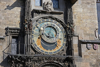 One of the symbols of Prague, the Astronomical clock dates from 1410. Legend has it that the designer had his eyes gouged out, so that he could not repeat his triumph elsewhere!
