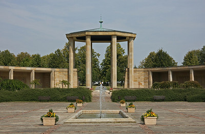 The entrance to the museum and former site of the village of Lidice.  In the spring of 1942, Czech paratroopers were responsible for the assassination of  Reich Protector Reinhard Heydrich, head of the Nazi occupying army in that region. In reprisal, the village of Lidice, a few miles North-west of Prague was selected for elimination. On 10th June 1942, the Nazi's murdered all Lidice males over the age of 16 and the women and children were transported to concentration camps.