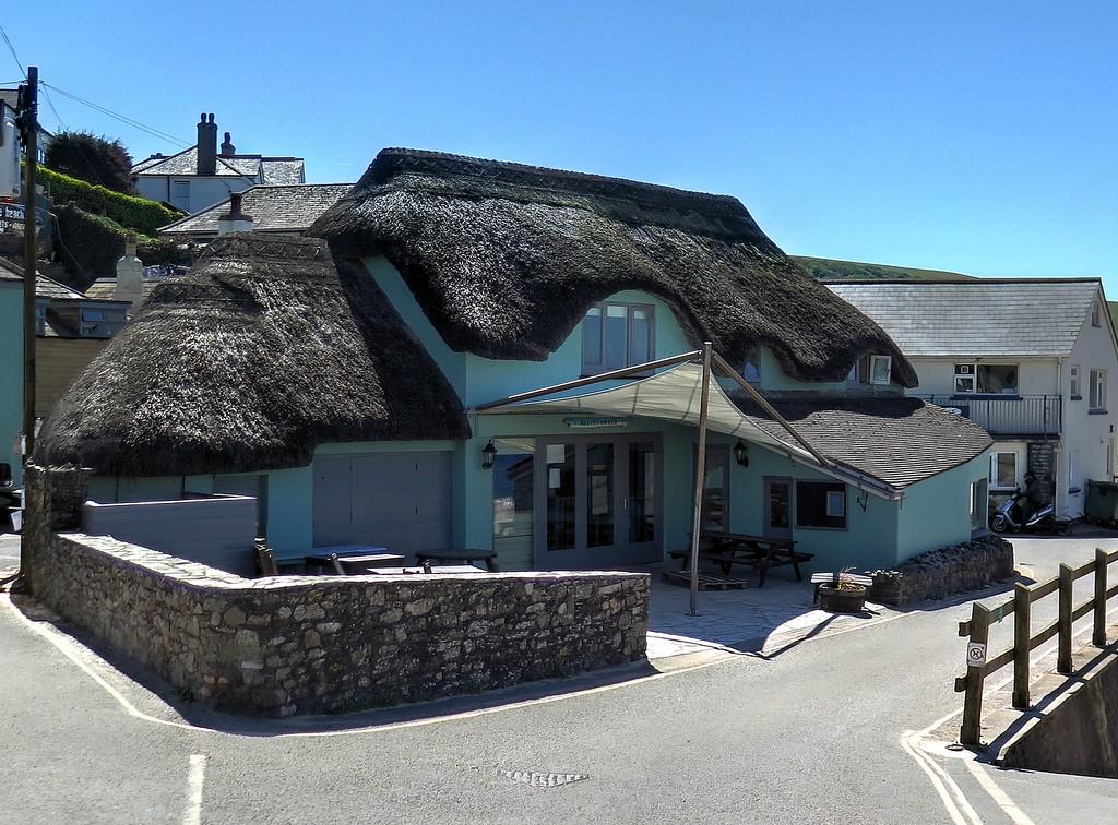 A beach side restaurant undergoing refurbishment