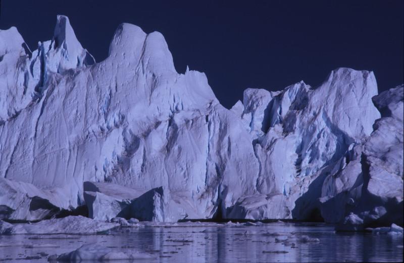 Icebergs in Disko Bay, Greenland.