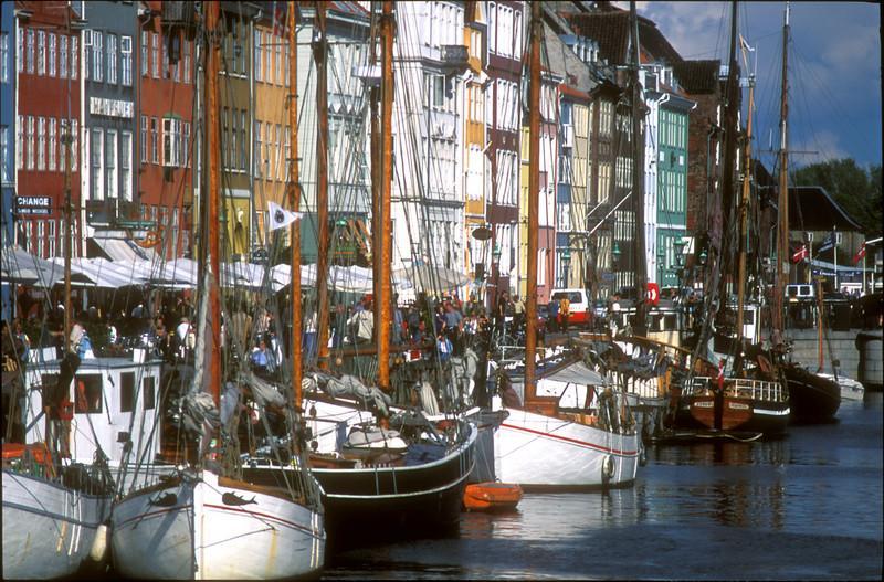 Nyhavn wharf, Copenhagen, Denmark.