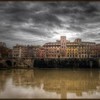 "Apartment block on the Tiber River, Rome, in the style of an old painting - HDR. Compare to the <a href=""http://www.earthphotos.com/Countries/Italy/4280164_wwVS8L#1490471167_B6g8K44"">drab original</a>."