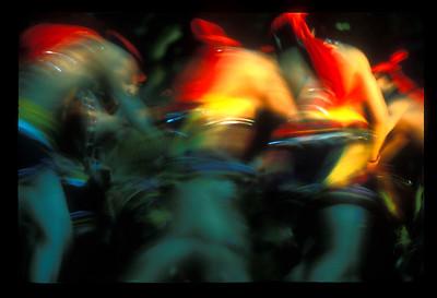 Dancers in aboriginal ceremony, Hua-lien, Taiwan.