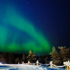 """Lapland: The Northern Lights, or Revontulet (literally, """"fox fire"""") in Finnish."""