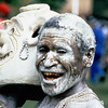 Mud man, Participant in the annual Goroka Show tribal dance festival, Goroka, Papua New Guinea.