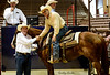 Champion of our Ranch Horse Competition that was held at our sale in Lufkin, Texas. This is Hip 30 - Just Playin Spades a 2004 sorrel gelding. He was consigned and shown by Travis Sachtleben of Burton, Texas. He is a seasoned head and heel horse and an accomplished in barrels, team penning and ranch horse. He sold for $10,000. For his win he received $5000 in cash and a trophy buckle.