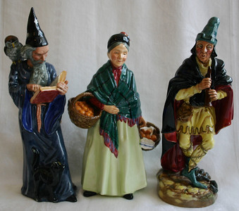 Royal Doulton Piper, Basket Lady, and Piper.
