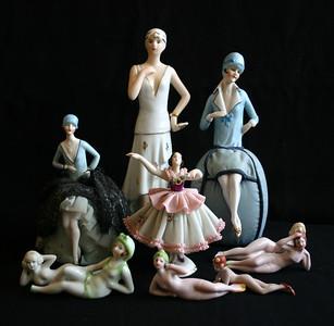 Bathing beauties, pin cushion dolls
