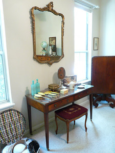 Boutique with English dressing table, French enamel and sterling dresser set and more!
