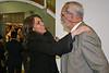 María Jesús Montes, mi editora, y yo, despidiéndonos.