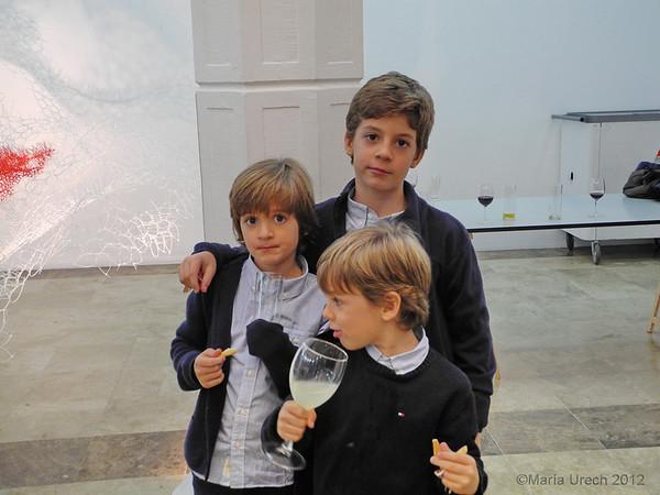 Mis sobrinos nietos, que se portaron fráncamente bien. De mayor a menor; Pedro, Rodrigo y Miguel.