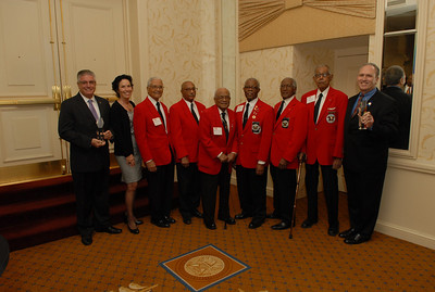 Presentation of the Aero Club's own Engen Trophy to The Tuskegee Airmen at the November 2013 Luncheon